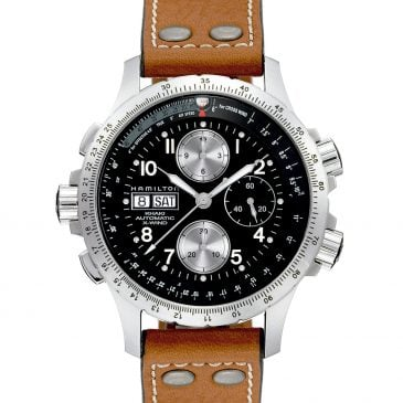 hamilton khaki aviation x wind auto chrono 44 piel marrón 2