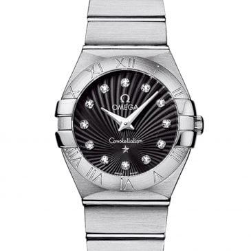 omega constellation 27 negra diamantes 1