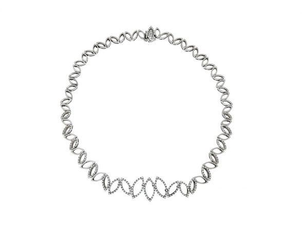 white gold/diamonds necklace