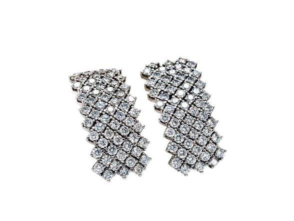 articulated diamonds earrings