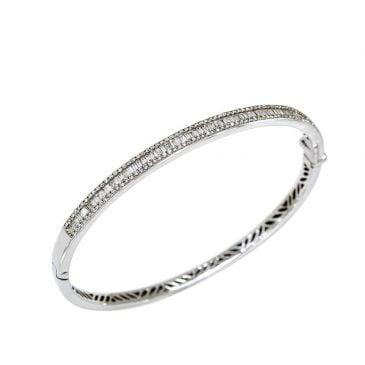 pulsera rígida diamante