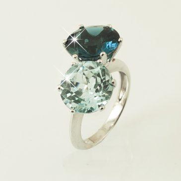 anillo topacios london blue