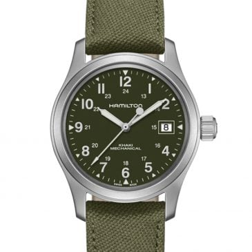 hamilton khaki field mechanical 38 verde 2
