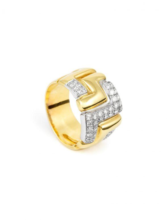 anillo amarillo brillantes