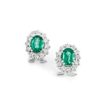 pendientes orla diamantes esmeralda 1