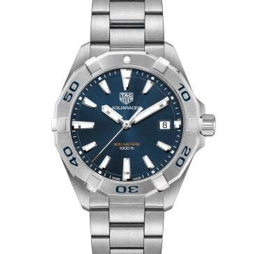 tag heuer aquaracer 300m quartz blue 3