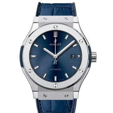 hublot classic fusion titanium blue 42mm 2