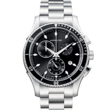 hamilton jazzmaster seaview chrono quartz 44 negro 2