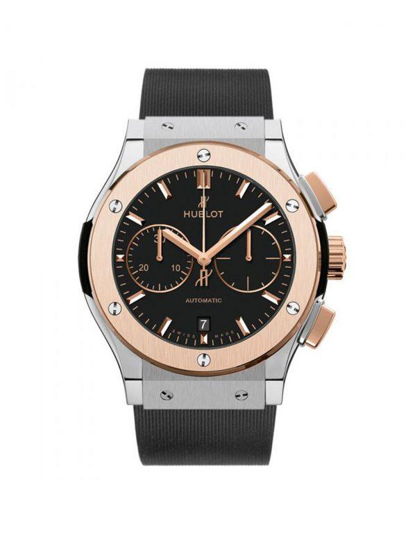 hublot classic fusion chronograph titanium/gold 45mm
