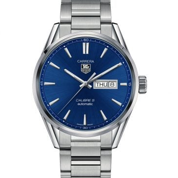 tag heuer carrera calibre 5 day date azul