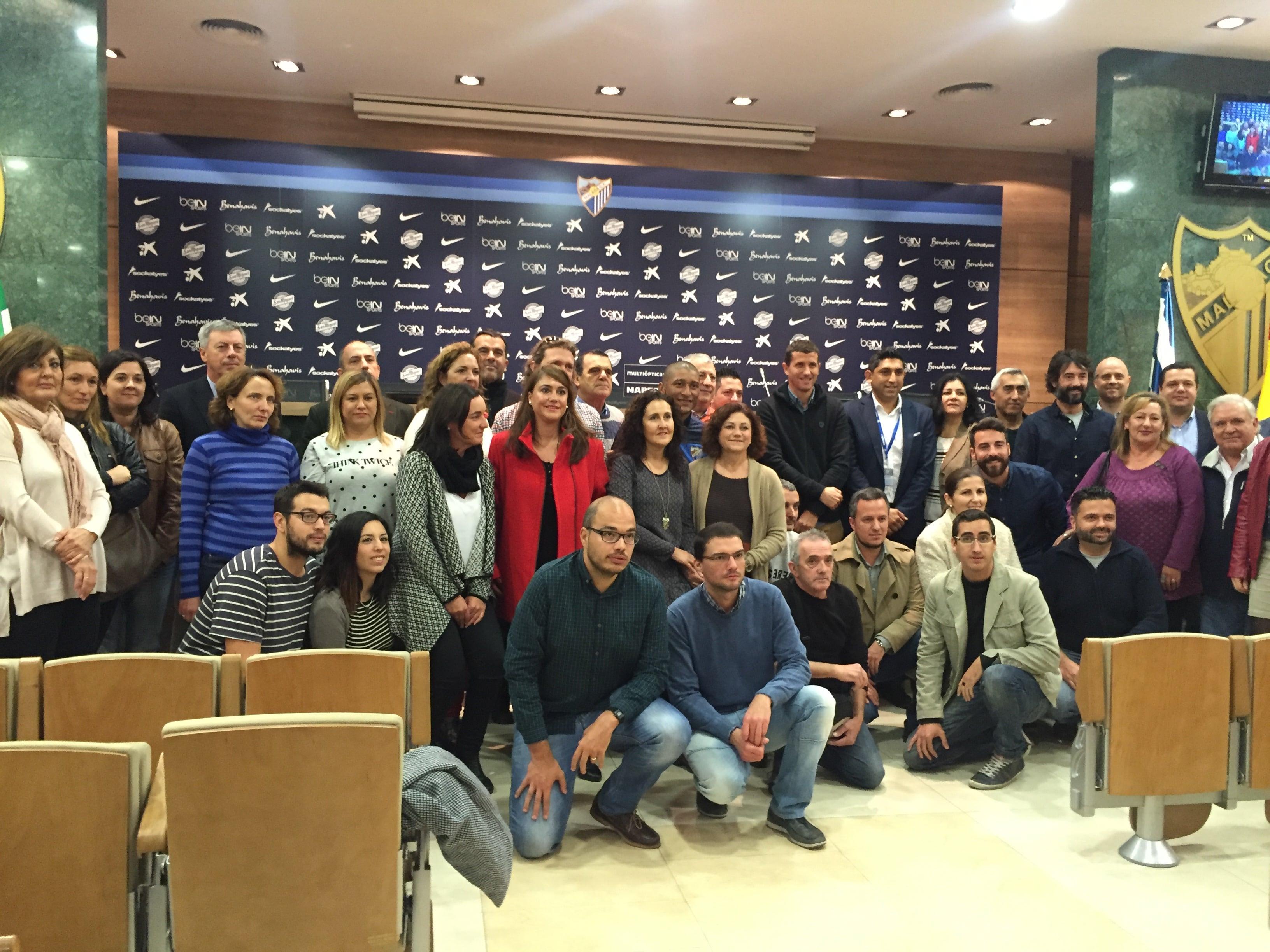 Joyería Marcos con los colectivos y  miembros de la Fundación Málaga C.F