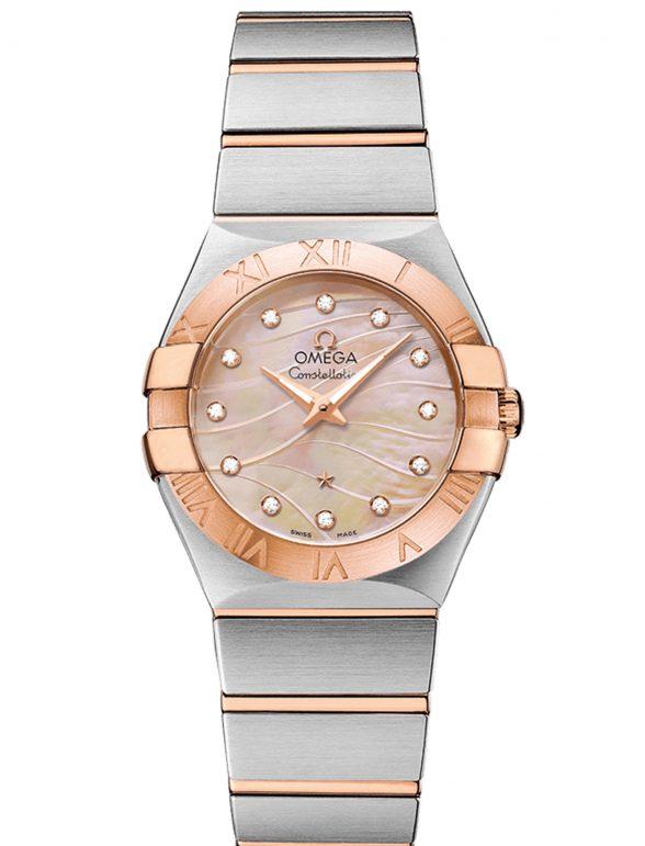 omega constellation 27 nácar rosa diamantes 1