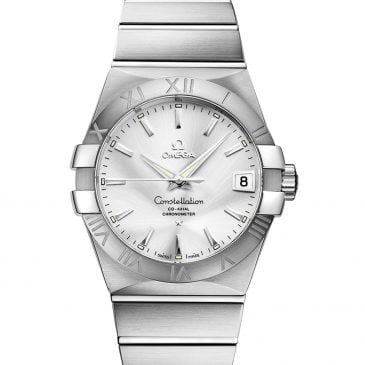 omega constellation 38 silver acero