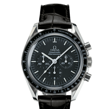 omega speedmaster moonwatch 42 negra piel 1