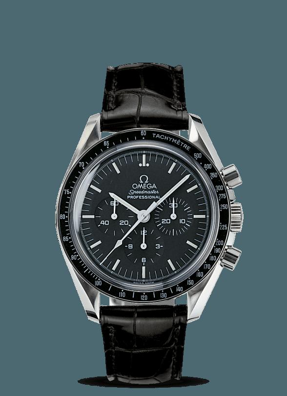 omega speedmaster moonwatch 42 negra piel 1