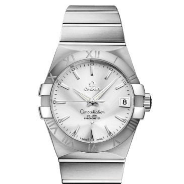 omega constellation 38 silver acero 1