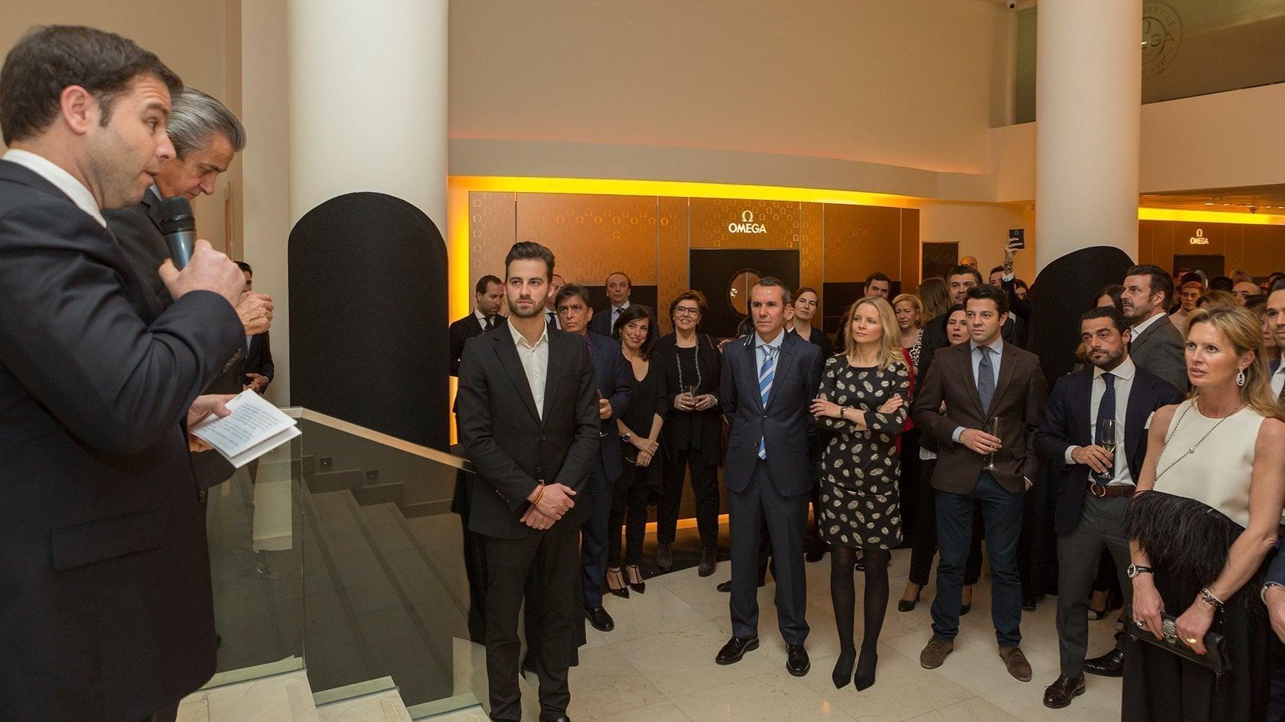 Aurelio Marcos y Sofía Gross durante la presentación de la colección Globemaster.