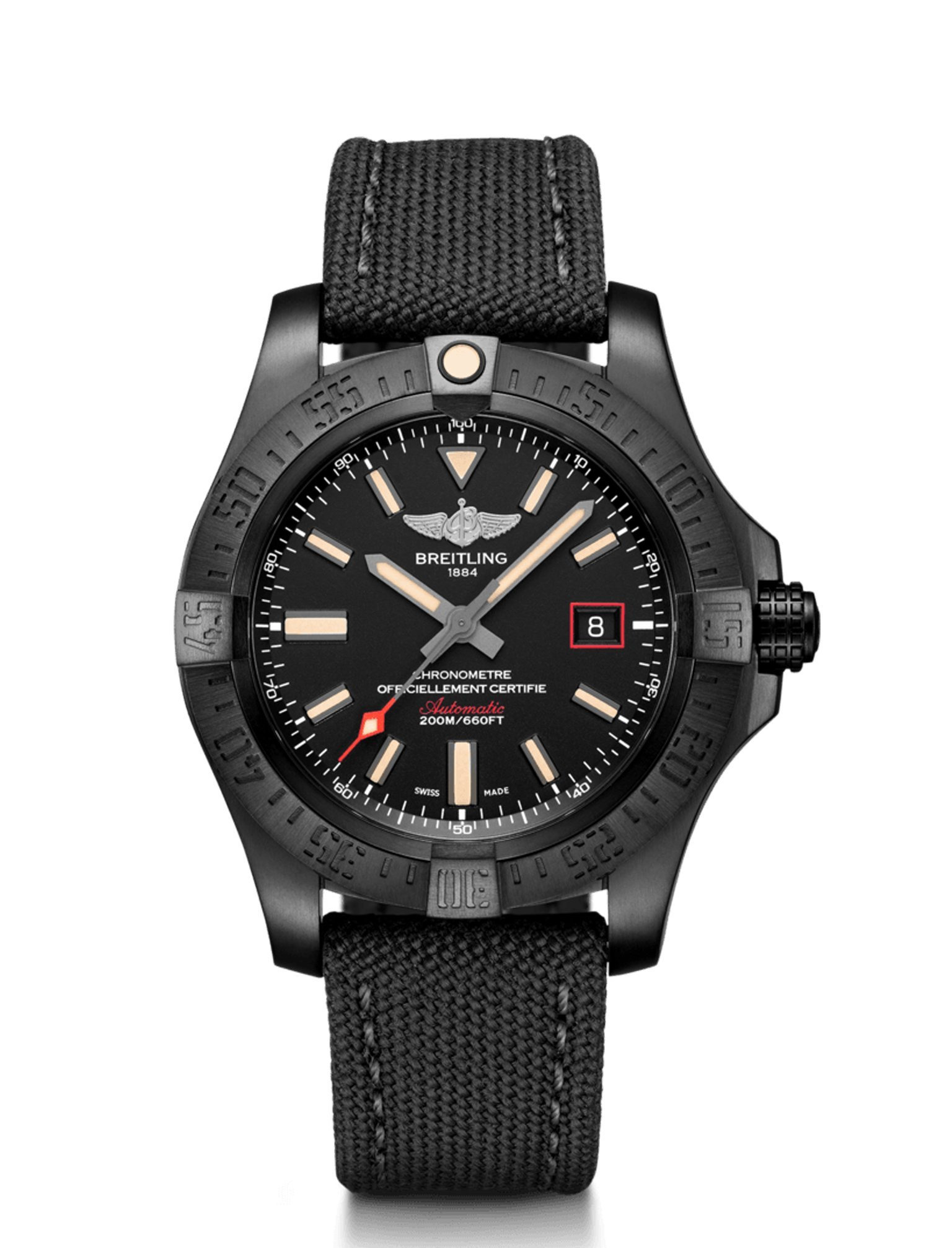 a320666c3 Breitling Avenger Blackbird 44 Titanio Negro-Negra Volcano - Joyería ...