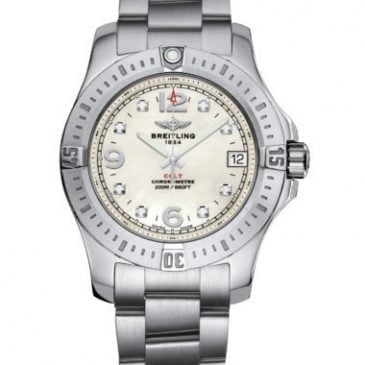 breitling colt 36 acero pearl diamond 1