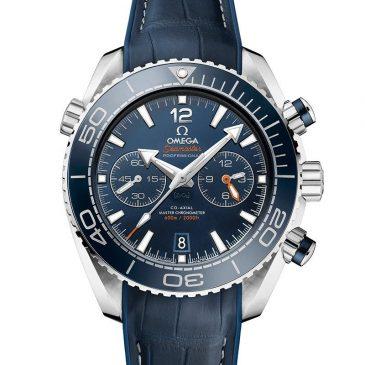 omega seamaster planet ocean 600m 45,5 azul piel