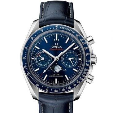 omega speedmaster moonwatch 44,25 azul piel