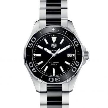 tag heuer aquaracer lady 300m black ceramic