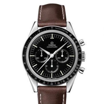 omega speedmaster moonwatch 42 piel marrón