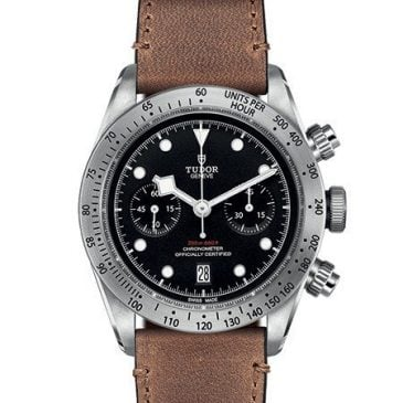 tudor heritage black bay chrono leather