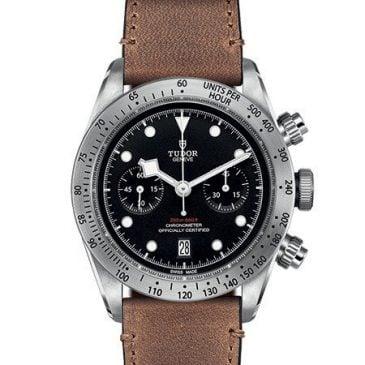 tudor heritage black bay chrono leather