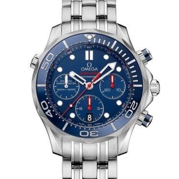 omega seamaster diver 300m 44 azul