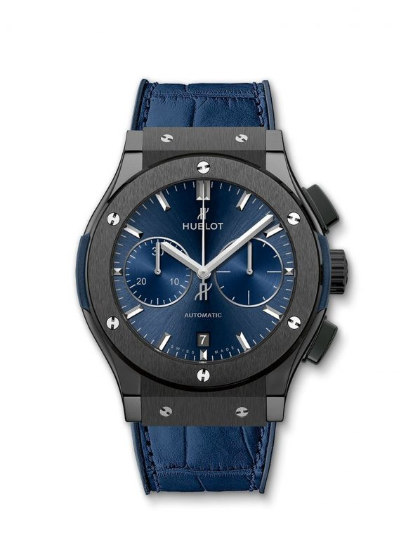 hublot classic fusion ceramic blue chronograph 45mm 2