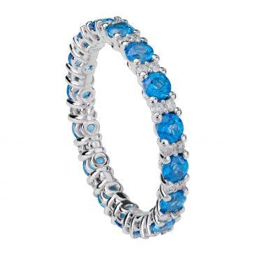 colgante zafiro y diamantes 9