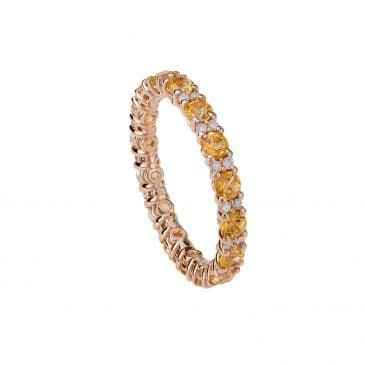 anillo topacio y diamantes