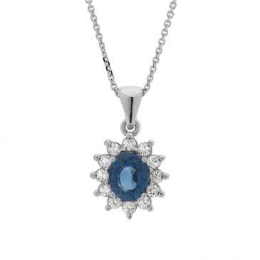 colgante zafiro y diamantes 18