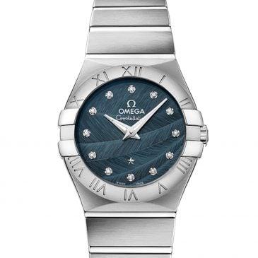 omega constellation 27 azul diamantes 1
