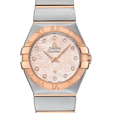 omega constellation 27 perla rosa diamantes 1