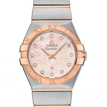 omega constellation 27 perlmutt rosa diamanten 1