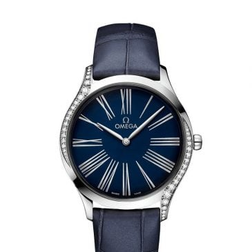 omega de ville trésor 36 blue diamonds