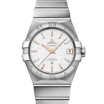 omega constellation 38 plata acero