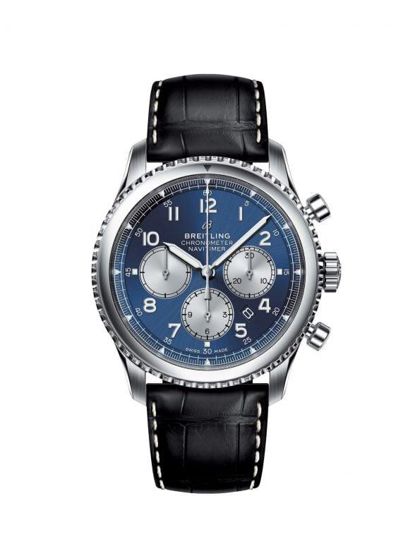 breitling navitimer 8 b01 chronograph 43 acero/satinado azul