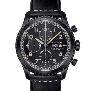 breitling navitimer 8 chronograph 43 negro piel