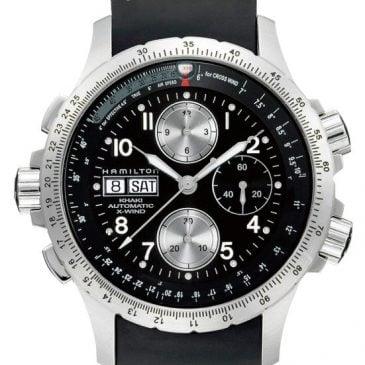 reloj hamilton x-wind caucho h77616333