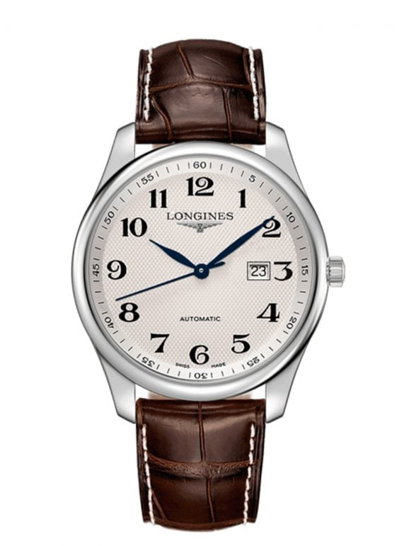 longines master collection 42 acero piel date