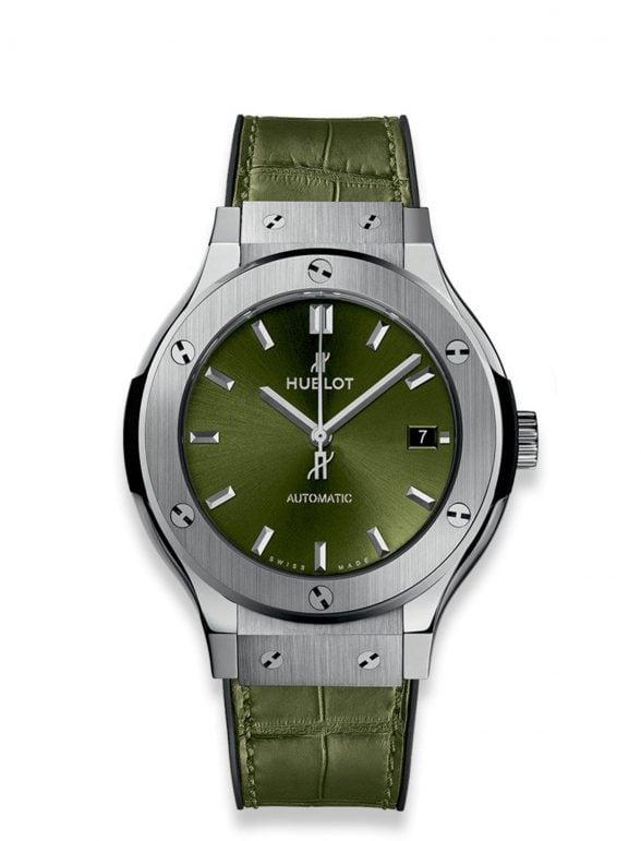 hublot classic fusion green titanium 38mm 2