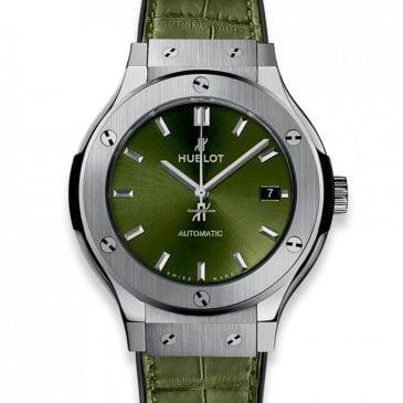 hublot classic fusion green titanium 38mm