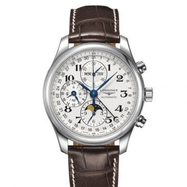 longines master collection 42 steel leather chronograph 2