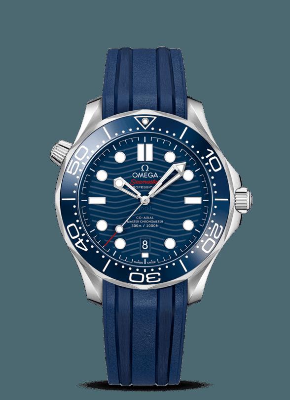 omega seamaster diver 300m 42 azul caucho