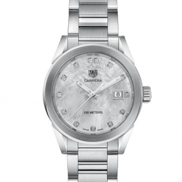 tag heuer carrera 36 steel white nacre 2