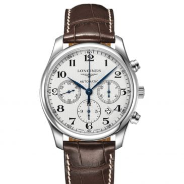 longines master collection 42 acero piel