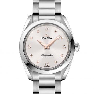 omega semaster aqua terra 150m 28 blanco oro/diamantes